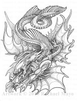 Aliens: L. a. draconis bw by rachaelm5