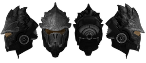 Mass Effect Head Gear V2 by Padme4000