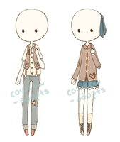 .:*[ 011-012 Outfits (CLOSED) ]*:. by cowcow-adopts
