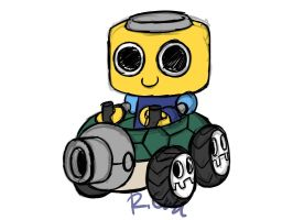 ServeBot turtle kart design by rongs1234