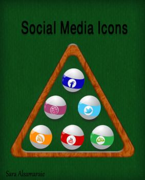 Billiard Balls icons by rosesfairy
