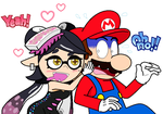 Callie Ink-vades Mario's Personal Space by JBX9001