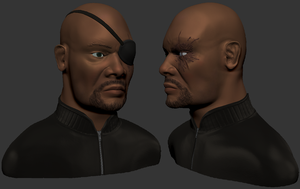 Nick Fury Speed-sculpt by inactionjackson