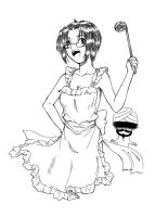 Ciel with apron by siwawuth