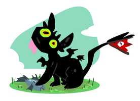 Toothless Kitty by sky665