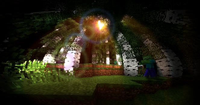 Radiance in the Zombie Forest by TJSeabury