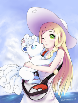 Lillie and Vulpix by dashahead