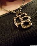 Brass Knuckles Necklace. by TheZoMbieMoshPiT