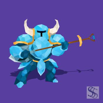 Shovel Knight Low-Poly by TripleS-Art