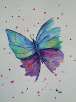 Butterfly (watercolor) by AlexandraDart