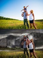 Family Stock before and after by lifeformgraphics