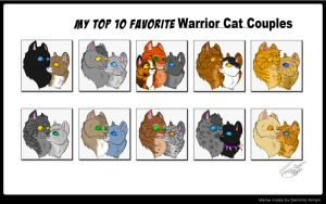 My Top 10 Favorite Warrior Cat Couples by Black-Raven19