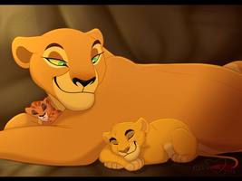 Uru And Her Cubs by IsharaHeart