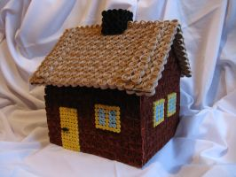 Gingerbread cottage by DreamsComeTrue2