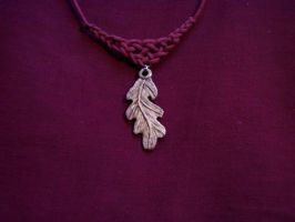 Oak Leaf Antler Pendant by ZachariahBusch