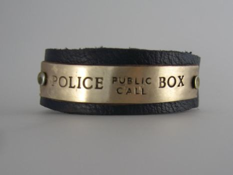 Tardis Cuff - Police Call Box by Peaceofshine