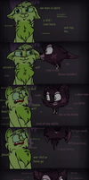 The story behind Ocix and the green cat by CandyGearz