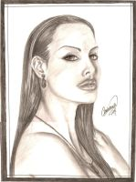 Angelina Jolie Commission by shadowyzman