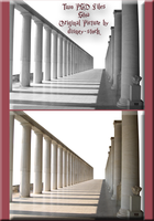Stoa two-pack PSD Stock by WDWParksGal-Stock