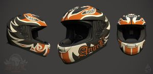 Angels of East Africa  Motorcycle Helmet by Art-by-Smitty