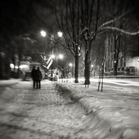 snowy evening by keithpellig