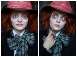 Mad Hatter- female make-up transformation by L-Justine