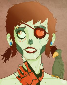Pirate Zombie Gal by voixcalme