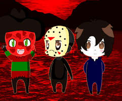 Horror Chibis by Horror-Forever13