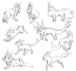 Eeveelutions by Susiron