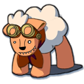 Honey Badger Sheep with Goggles by RejZoR