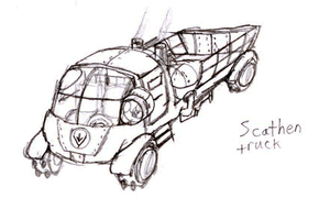 Scathen Truck by IrateResearchers