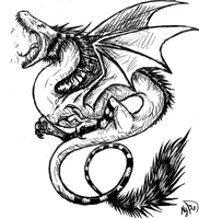 dragon tattoo by anthro-artist
