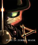 Puss in Zorro Mask by aun61
