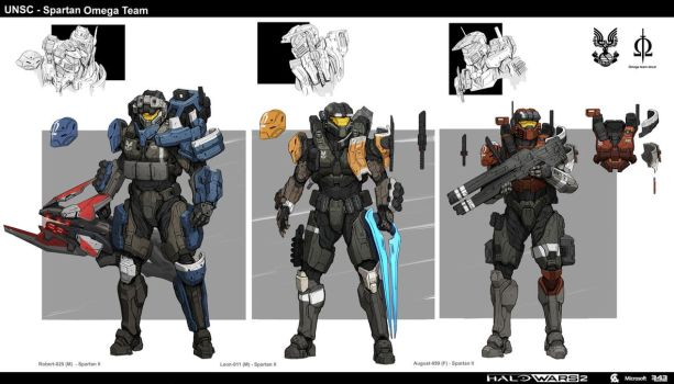 Halo Spartan Omega Team by StTheo
