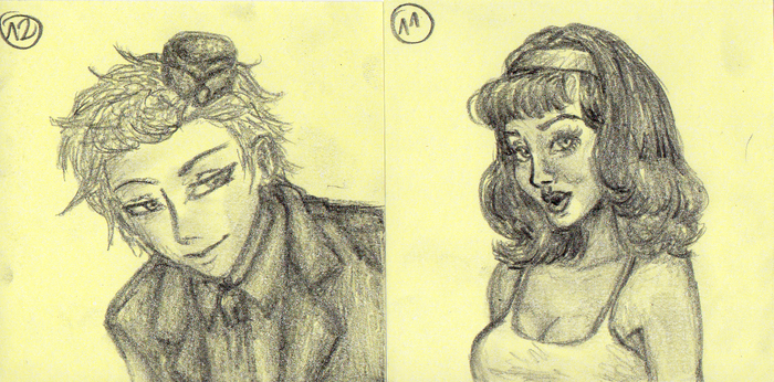 400 sketches proj. Yellow part 2 by MusicAndArtItsMyLife