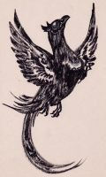 Ink Pheasant by CorruptedFox