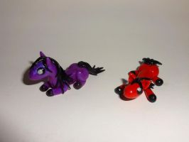 Purple and Red Mini Ponies by ByToothAndClaw