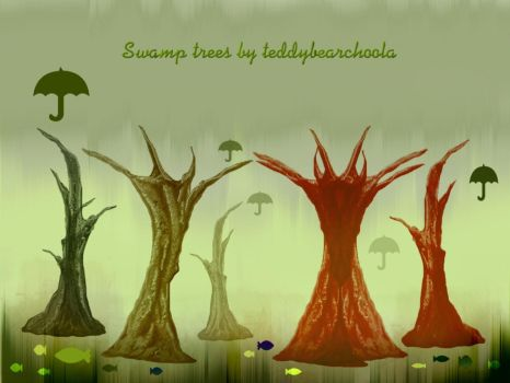 Swamp trees brushes by teddybearcholla