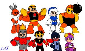 Rockman Robot Masters by Rockgirl-Savvy
