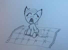Tired Little Pony by LucyQ602