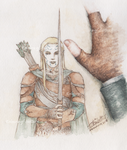Picture of an Elven Warrior by Llttle-Lark