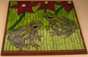 Two little frogs by Mystic-Mosaics