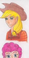 MLP:FIM Humanized AppleJack and Pinkie Pie by tod309