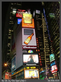 Times Square by Night 2 by Aideon