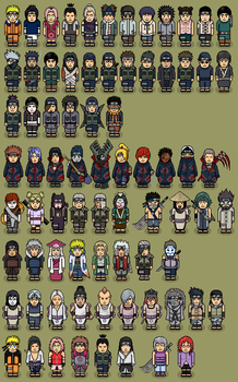 NARUTO CHARACTERS Habbo Style by DiegoRain