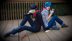 Back to Back Gorillaz Cosplay by Crimzun