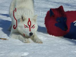 Oki and Ammy by wildwolves