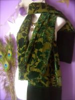 Victorian Green Velvet Wrap by MimiMadlight13
