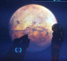 Garrus and Jane contemplate a previous Crucible by AzuleneAroma
