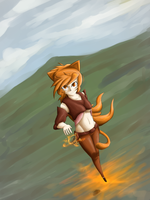 Cat-girl-mage-thing by KartProwler